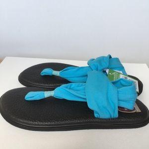 Sanuk Shoes - NWT Sanuk yoga sling 2 sandals teal blue 9 10